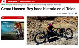 MARCA – Gema Hassen-Bey hace historia en el Teide